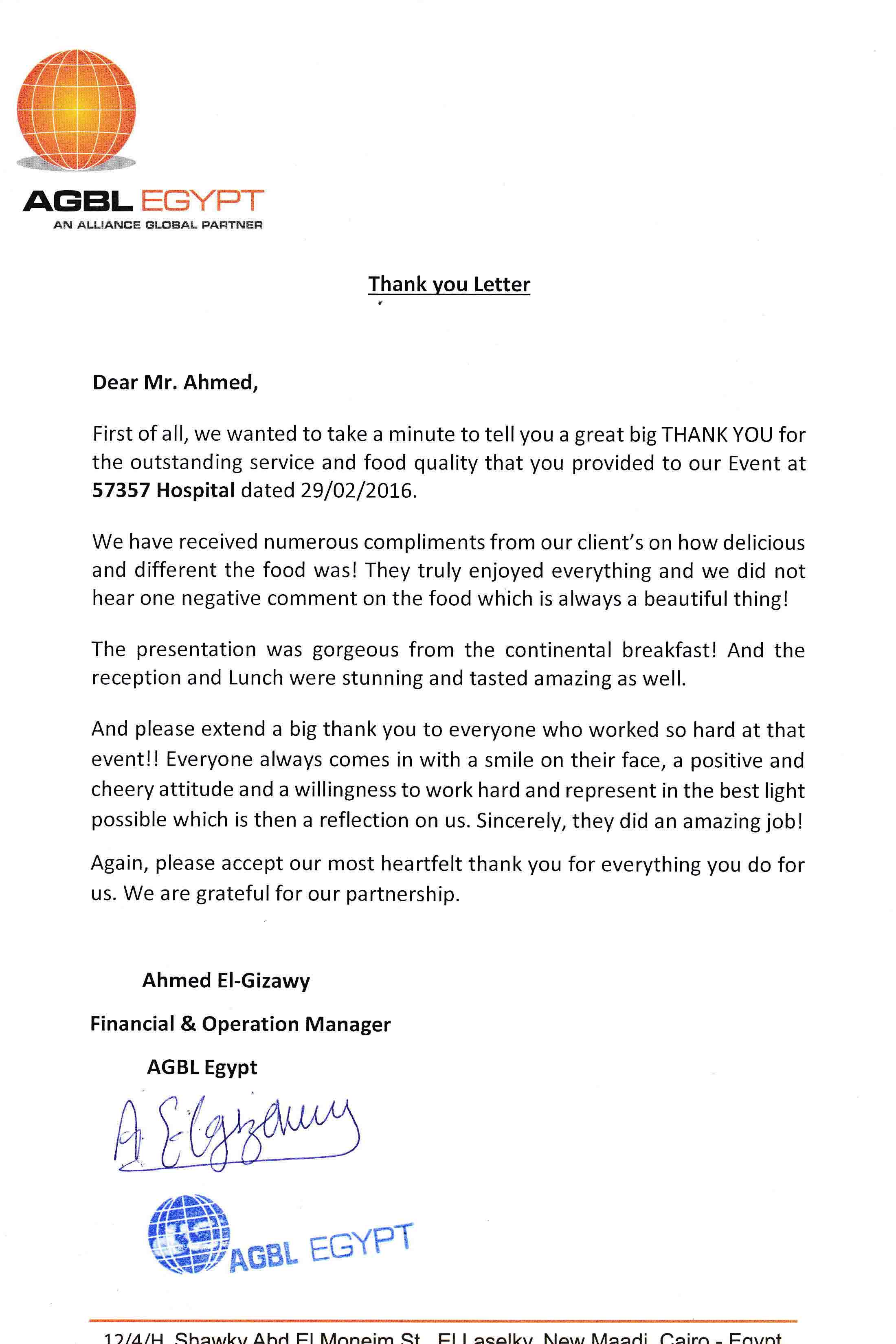 Thank You Letter Partnership Choice Image  Letter Format Formal Sample